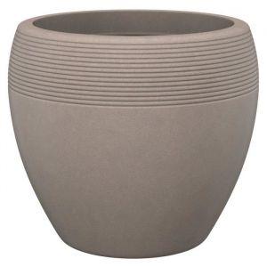 Scheurich Pot plastique DEROMA Diam.39 x H.32.7 cm taupe