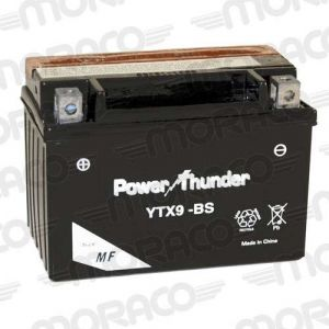 Power Thunder Batterie YTX9-BS AVEC ACIDE