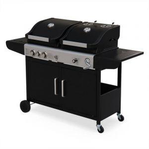 Alice's Garden Marsac  - Barbecue 2 en 1 gaz et charbon 2 brûleurs + 1 feu latéral