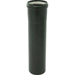 Ten Tuyau émail noir mat Ø100 33cm + joint -