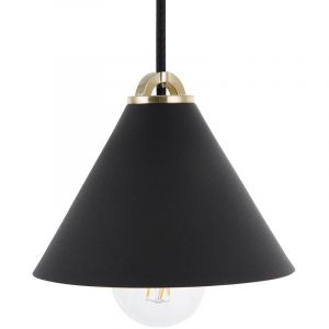 Beliani Lampe suspension noir ARAGON