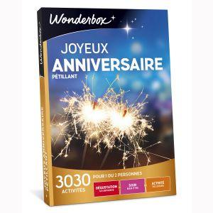 Wonderbox Joyeux Anniversaire pétillant - Coffret cadeau
