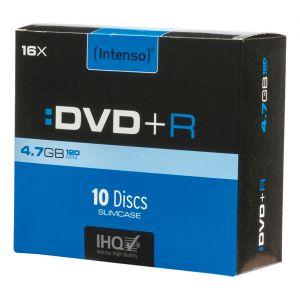 Intenso 4111652 - Pack de 10 DVD+R 4,7 Go 16x (Slim Case)