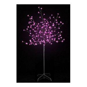 Pegane Arbre prunus lumineux 200 LED en Rose - 150 cm -