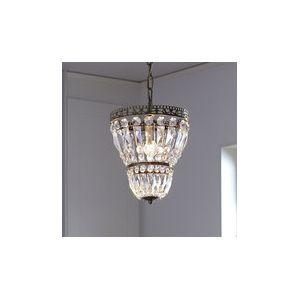 Markslojd Sundsby - Lustre avec pampilles en verre et chaîne en métal diamètre 25cm