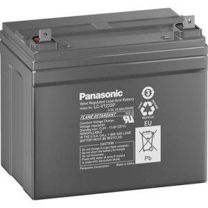 Panasonic Batterie au plomb 12 V 33 Ah LC-V1233PC plomb (AGM) (l x h x p) 196 x 155 x 130 mm raccord à vis M6 sans entre