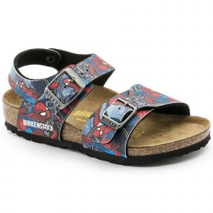 Image de Birkenstock New York, Sandales Bride Arriere Garçons, Bleu (Marvel Multicolore Spiderman Action Blue Marvel Multicolore Spiderman Action Blue), 32 EU