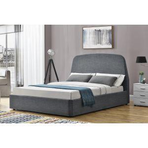 Concept-Usine Lit Nacka - Cadre de lit à rangement 2 Places Gris - 140x190
