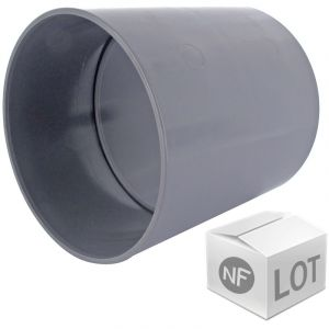 First Plast Lot de raccord PVC - 50 manchons à butée Ã%u02DC50