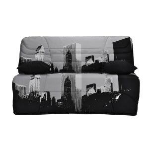 Housse couette BZ matelas 9 cm 250g/m2 Imprimé New York Building Taille 160x200 cm;140x190 cm;90x190 cm
