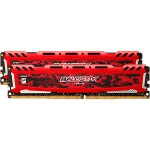 Crucial BLS2C8G4D26BFSEK - Ballistix Sport LT RED DDR4 2 x 8 Go 2666 MHz CAS 16