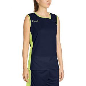 Spalding Spalding 4her II Maillot de basket Femme Bleu Marine/Jaune Paille FR : S (Taille Fabricant : S)