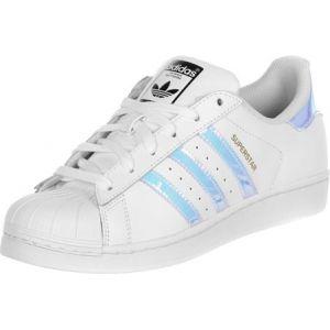 Adidas Superstar, Baskets Basses Mixte Enfant, Blanc (FTWR White/FTWR White/Metallic Silver SLD), 38 EU