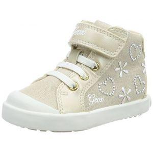 Geox B Kilwi E, Sneakers Basses Bébé Fille, Beige, 24 EU