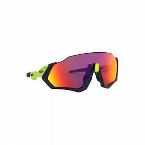 Oakley Flight Jacket - Lunettes cyclisme - jaune/bleu Lunettes triathlon