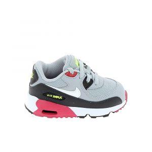 Nike Chaussure bebe air max 90 bb gris rose 22