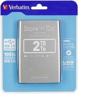 """Verbatim 53189 - Disque dur externe Store'n'Go 2 To  2.5"""" USB 3.0"""