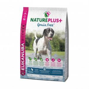 Eukanuba Natureplus - Croquettes sans céréales Grain Free saumon pour chien adulte - Sac 2,3 kg