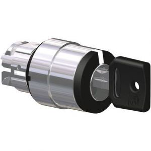 Schneider Electric Tête de sélecteur à clé noir 2 positions à 90° ZB4BG2 Harmony XB4