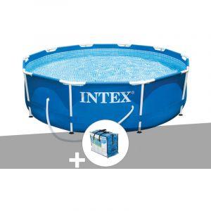 Intex Kit piscine tubulaire Metal Frame ronde 3,05 x 0,76 m + Bâche à bulles