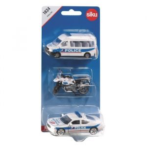 Siku Modèles réduits : Set 3 véhicules Police