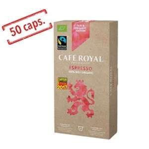 Café Royal Capsules Espresso 100% Bio Faitrade x10 pour Nespresso