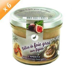 Lucien georgelin Lot de 6 Délices de Foie Gras aux Figues 100g