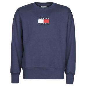 Tommy Jeans Sweat-shirt TJM SMALL FLAG CREW - Couleur S,M,L,XL,XS - Taille Bleu