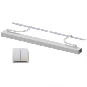 Wimove Motorisation volets 2 battants WINEO filaire - baie de 800-1500 mm - carter blanc - bras blanc -