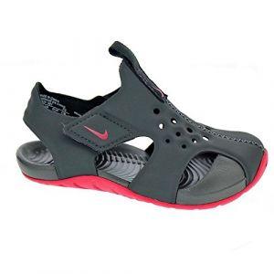 Nike Sunray Protect 2 (TD), Sandales de Sport Mixte Enfant, Multicolore (Anthracite/Rush Pink 001), 23.5 EU