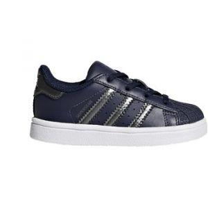 Adidas Superstar I, Baskets Mixte Enfant, Multicolore-Bleu Nocmét/Maruni, 20 EU