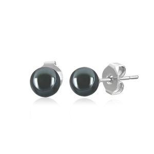 Blue Pearls Bps0915 Y - Boucles d'oreilles en Hématites et Argent pour femme