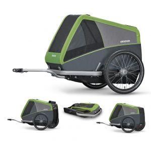 Croozer Dog XL - Remorque vélo - gris/vert Remorques pour chien