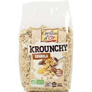 Céréales Krounchy granola miel et noix de pécan 500g bio Grillon d'Or