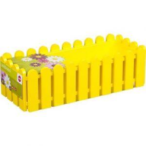 Emsa Jardinière landhaus - L : 50 cm - jaune - Pot, Jardinière en plastique