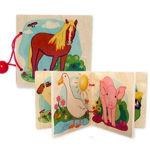 Hess-Spielzeug Livre d´images en bois - La ferme