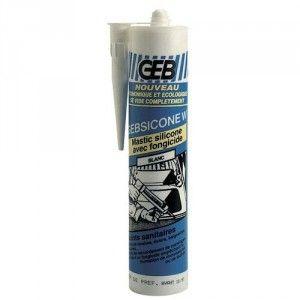 Geb 893251 - W mastic 100% silicone d'étanchéité cartouche de 310ml translucide