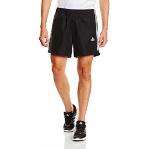 Adidas 3 Bandes Chelsea Sport Essentials Short Homme Noir FR : L (Taille Fabricant : L)