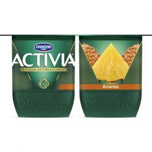 Activia Spécialité laitière au bifidus, saveur ananas - Les 4 pots de 125g