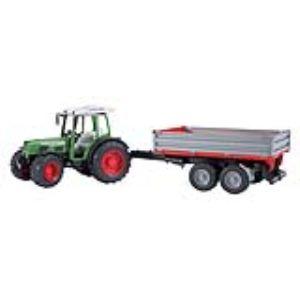 Bruder Toys 2104 - Tracteur Fendt 209 avec remorque