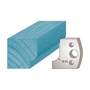 Diamwood Platinum Jeu de 2 fers profilés Ht. 40 x 4 mm congé M13 pour porte-outils de toupie