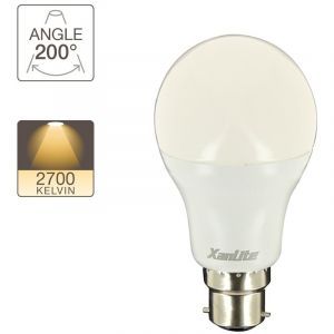 Xanlite Ampoule LED A60, culot B22, 14,2W cons. (100W eq.), lumière blanc chaud