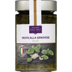 Monoprix gourmet Sauce Pesto Alla Genovese à base de basilic, huile de tournesol et fromages