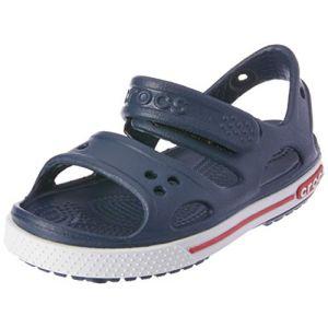 Crocs Crocband II Sandal Kids, Mixte Enfant Sandales, Bleu (Navy/White), 34-35 EU