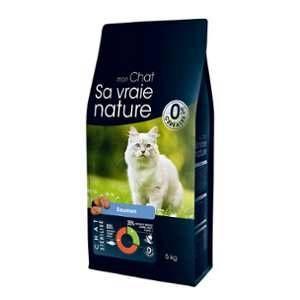 Sa vraie nature Croquettes pour chat stérilisé au saumon - 5 kg