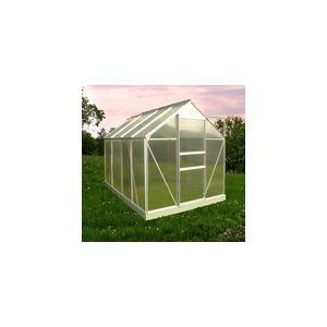 Chalet et Jardin Serre de jardin en polycarbonate avec base 4,75 m²