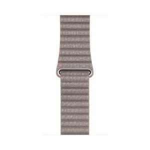 Apple Bracelet Apple Watch Boucle en cuir 42mm gris fumée taille L
