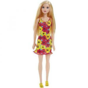 Mattel Barbie Chic blonde robe fleurie rose et jaune