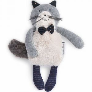 Moulin roty Petite peluche chat gris clair Fernand Les Moustaches