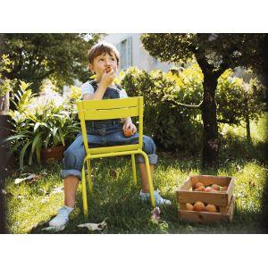 Fermob Chaise enfant Luxembourg Kid / Empilable - Métal verveine en métal